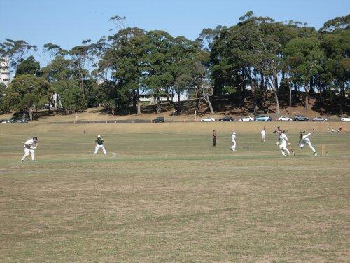 Match de criquet à Auckland