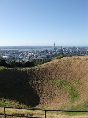 Auckland depuis le cratère du mont Eden