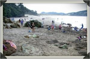 La plage de Hot Water Beach