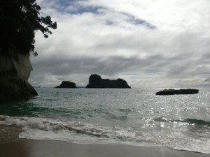 Ilôts à Cathedral Cove