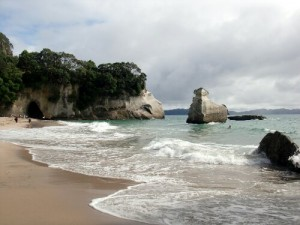La plage de Cathedral Cove