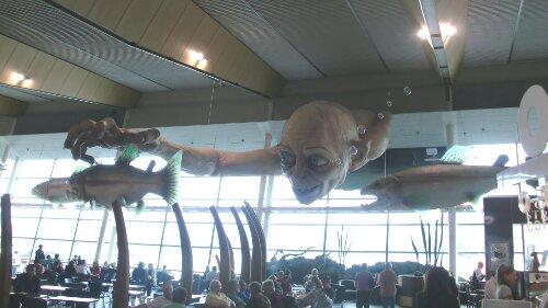 Golum dans l'aérogare de Wellington, Nouvelle-Zélande