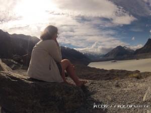 Laura au Lac Tasman