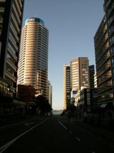 Les rues d'Auckland