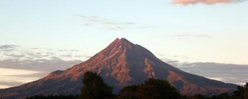 Le Taranaki au petit matin
