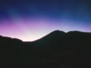 Soleil levant au Tongariro