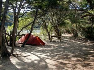 Campement à Bark Bay