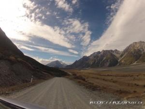 Piste de la vallée du lac Tasman